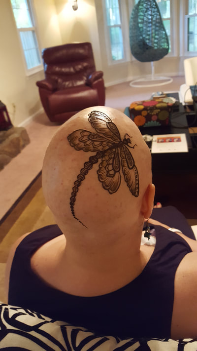 A beautifully decorated Dragonfly. Design from google images.