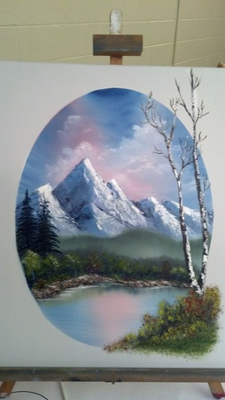 Oil Painting using Bob Ross Techniques